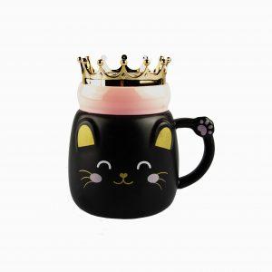 Tazas con tapa con corona